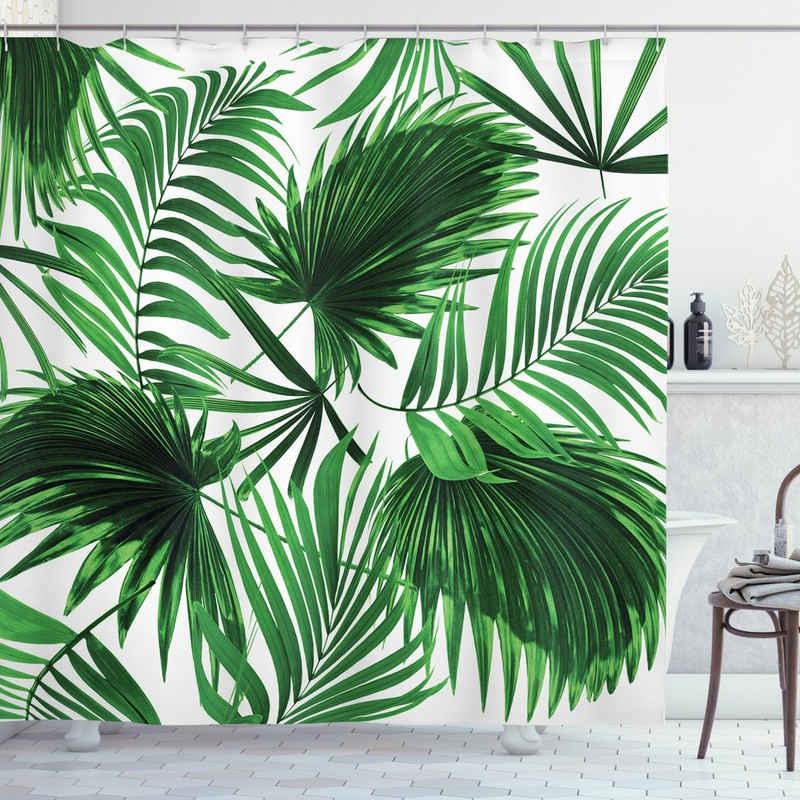 Abakuhaus Duschvorhang »Moderner Digitaldruck mit 12 Haken auf Stoff Wasser Resistent« Breite 175 cm, Höhe 240 cm, Palmblatt Vivid Blätter Wachstum