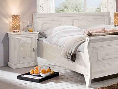 Moebel-Eins Nachttisch, RICHARD II Nachtkommode, Material Massivholz, Kiefer
