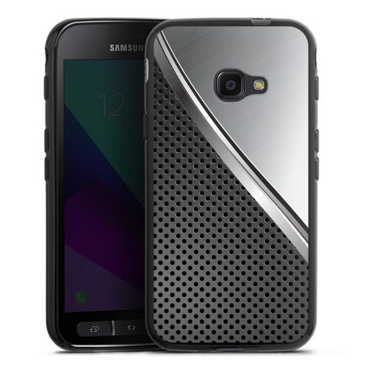 DeinDesign Handyhülle »Duo Metal Surface« Samsung Galaxy Xcover 4, Hülle Carbon Stahl Muster