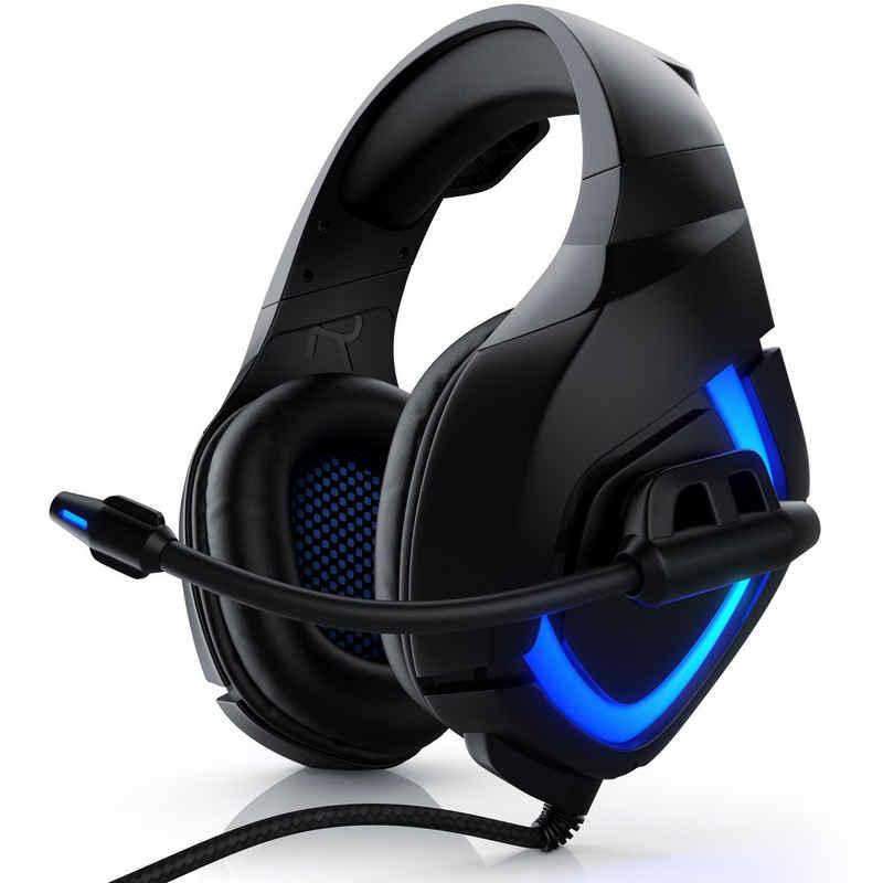 "CSL Gaming-Headset (USB Gaming Headset ""GHS-103"" mit Mikrofon Kopfhörer für PC (Win XP/7/8/8.1/10), PS4/4 Pro)"