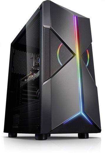 Kiebel Twister Gaming-PC (AMD Ryzen 5 AMD Ryzen 5 3500X, GTX 1650, 16 GB RAM, 1000 GB HDD, 512 GB SSD, Luftkühlung, ARGB-Beleuchtung)