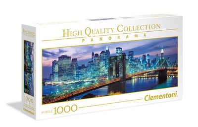 Clementoni® Puzzle »New York Brooklyn Bridge 1000 Teile Panorama«, 1000 Puzzleteile, Panorama Format