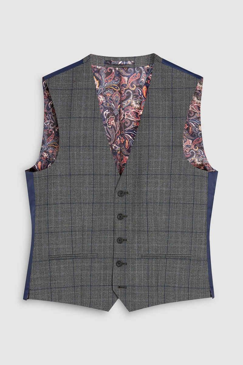 Next Anzugweste »Taillierter Anzug im Prince-of-Wales-Karo: Weste« (1-tlg)