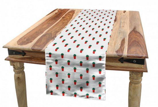 Abakuhaus Tischläufer »Esszimmer Küche Rechteckiger Dekorativer Tischläufer«, Kaktus Plantage in einem Topf Muster