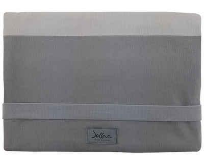 JOLLAA Windeltasche »Streifen Grau«, Wickeltasche für unterwegs, Tasche für Windeln & Feuchttücher, Windeletui, Wickelmäppchen MADE IN EUROPE