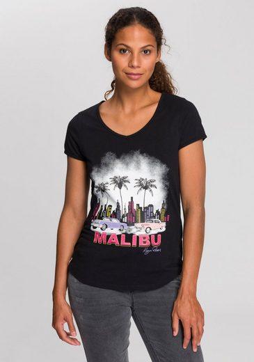 KangaROOS T-Shirt mit sommerlichem Frontprint