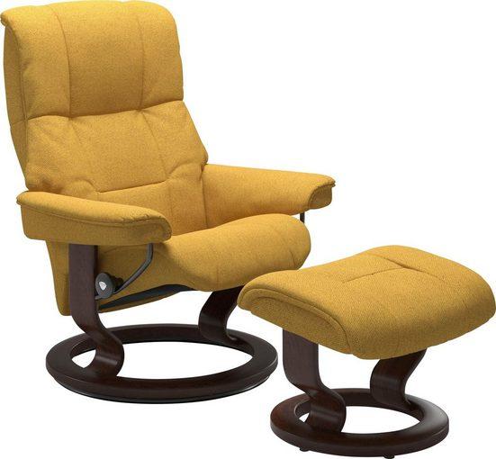 Stressless® Fußhocker »Mayfair« (Set, 2 St., Relaxsessel mit Hocker), mit Hocker, mit Classic Base, Größe S, M & L, Gestell Braun