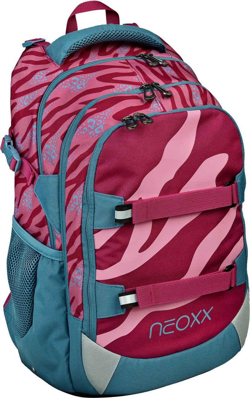 neoxx Schulrucksack »Active, Berry Vibes«, aus recycelten PET Flaschen