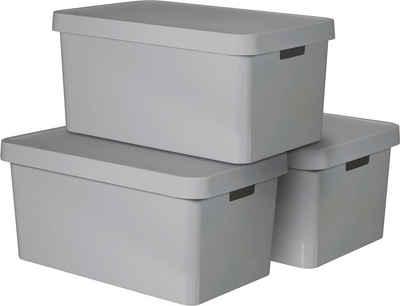 Curver Aufbewahrungsbox »INFINITY« (Set, 3 Stück), stapelbar, je 45 Liter