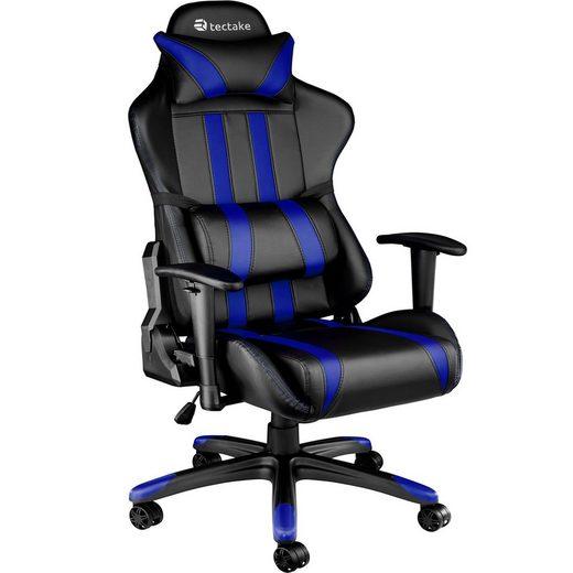 tectake Gaming-Stuhl »Premium Racing Bürostuhl mit Streifen« (1 Stück), Rückenlehne bis 105° verstellbar