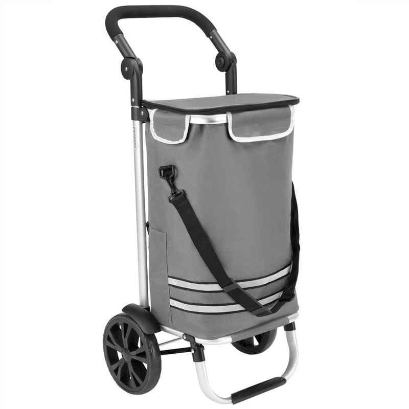 monzana Einkaufstrolley, Multifunktional verwenden, entweder als Trolley, praktische Umhängetasche oder als pure Sackkarre.