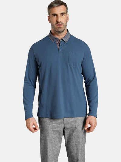 Charles Colby Langarm-Poloshirt »DUKE BRENNAN« feines Zopf-Strickmuster