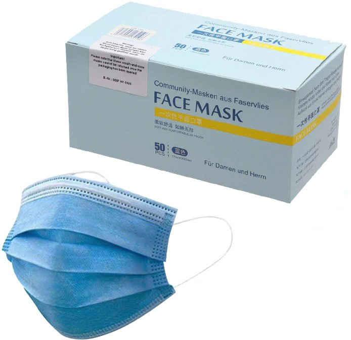Community-Masken, Packung, 50-St., Einweg-Masken für Erwachsene