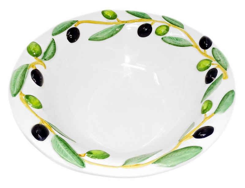Lashuma Müslischüssel »Olive«, Keramik, Servierschüssel rund, Keramikschale Ø 26 cm