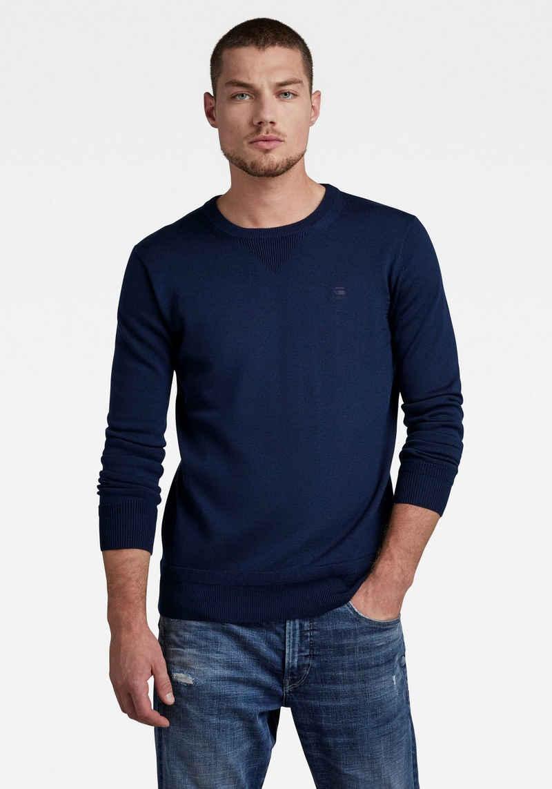 G-Star RAW Rundhalspullover »Premium Basic Knit«
