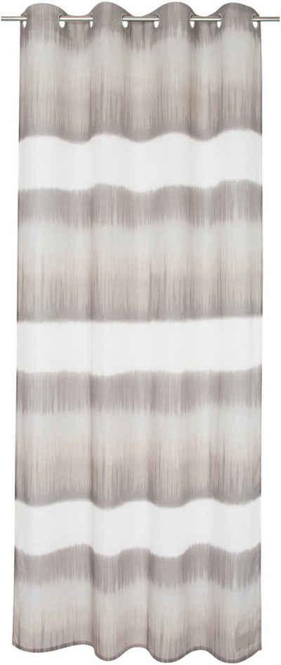 Vorhang »Fading Batic«, TOM TAILOR, Ösen (1 Stück), halbtransparent