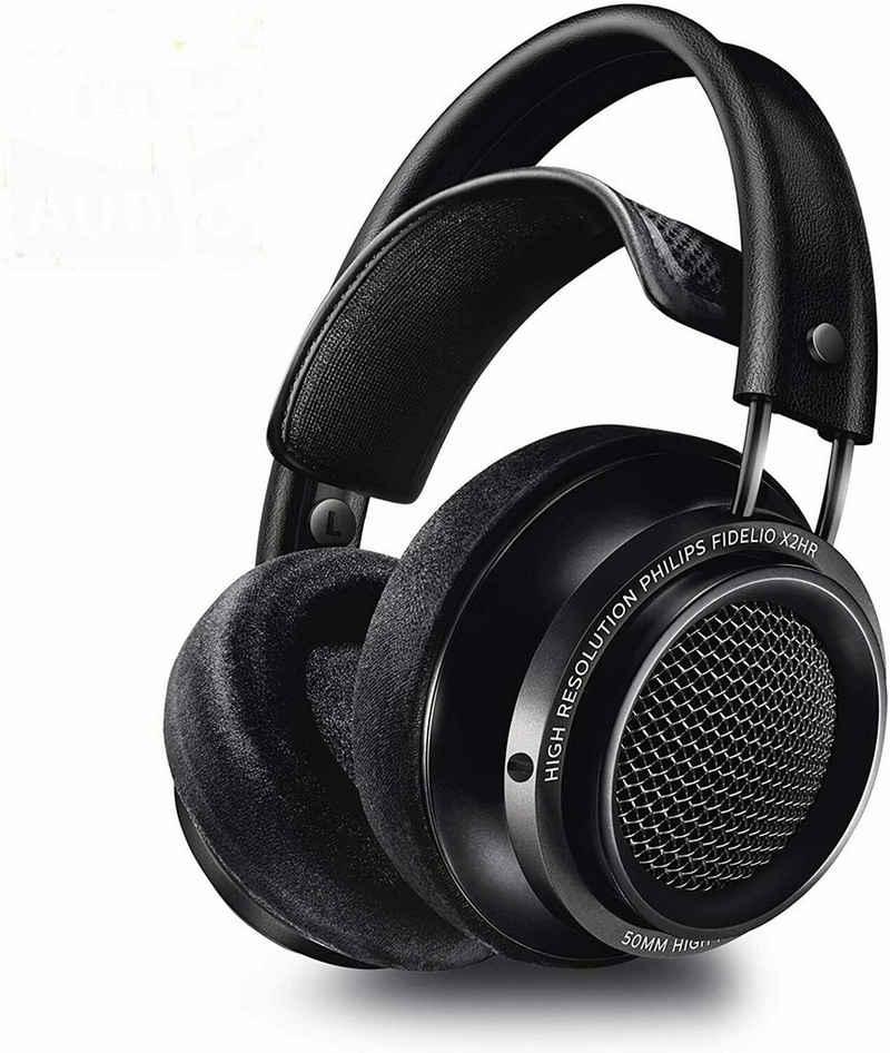 Philips »Fidelio X2HR (Offene Over-Ear Kopfhörer, High Resolution Audio, Schwarz« HiFi-Kopfhörer