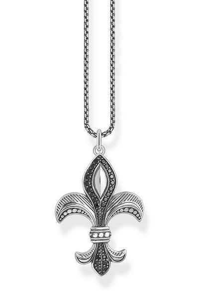 THOMAS SABO Kette mit Anhänger »Bourbonische Lilie Silber«