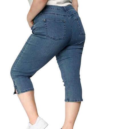 GUIDO MARIA KRETSCHMER Regular-fit-Jeans »GUIDO MARIA KRETSCHMER Capri-Jeans komfortable Damen Denim-Hose in 3/4 Länge Denim-Jeans Blau«