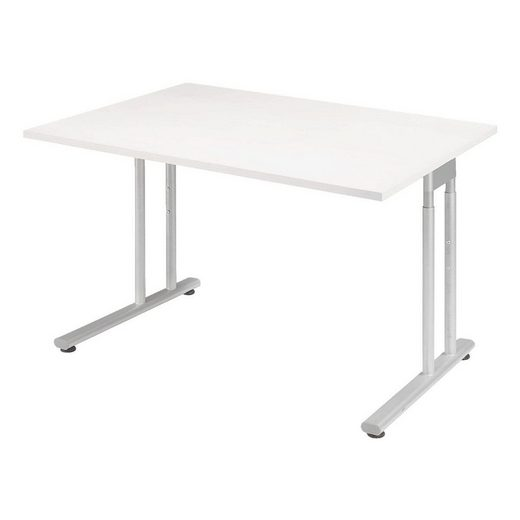 geramöbel Schreibtisch »Lissabon«, mit Metalltraverse und Höhenausgleichsschrauben