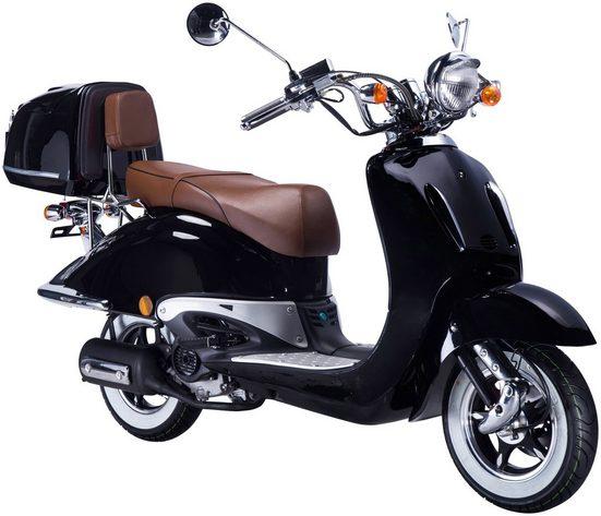 GT UNION Motorroller »Strada«, 125 ccm, 80 km/h, Euro 2, inkl. Topcase