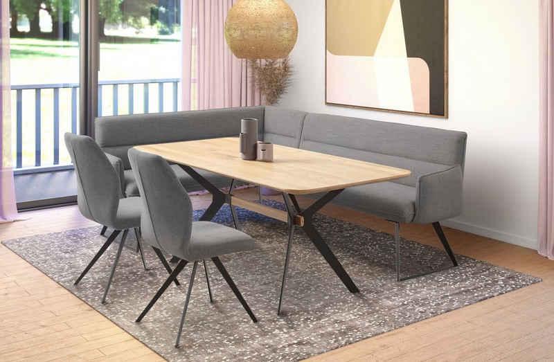 Premium collection by Home affaire Eckbankgruppe »Preston«, (4-tlg), Moderne und bequeme Eckbankgruppe