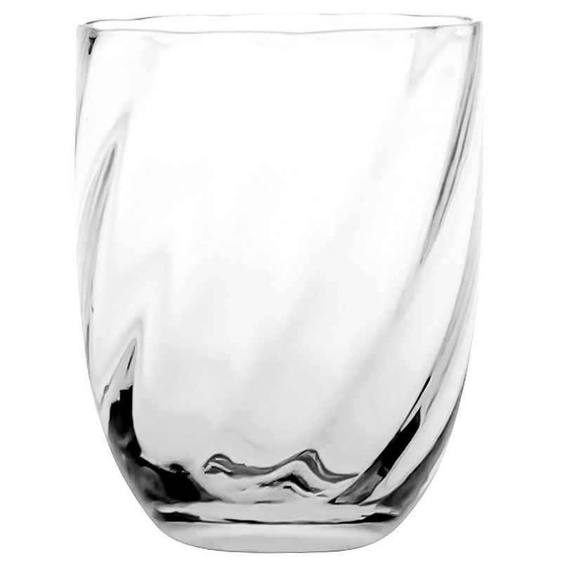 KLIMCHI Glas »Marika im 2er Set; Tumbler für ca. 200 - 240 ml; Elegantes Wasserglas / Saftglas aus mundgeblasenem Kristallglas«, Kristallglas