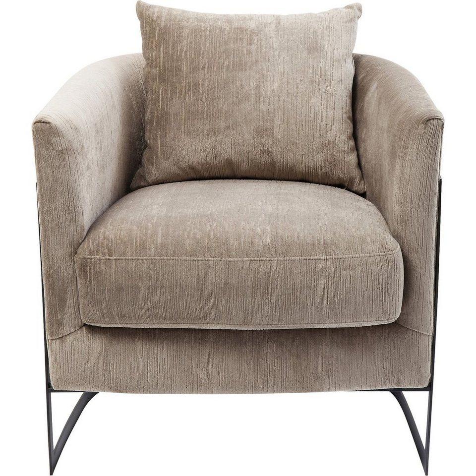 KARE Sessel »LA VIDA«, Korpus Edelstahl lackiert, Bezug 100  Polyester, Sitzschale Sperrholz ...