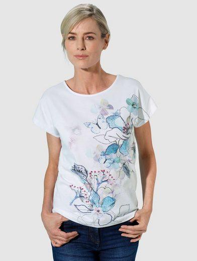Dress In Shirt mit Blumendruck