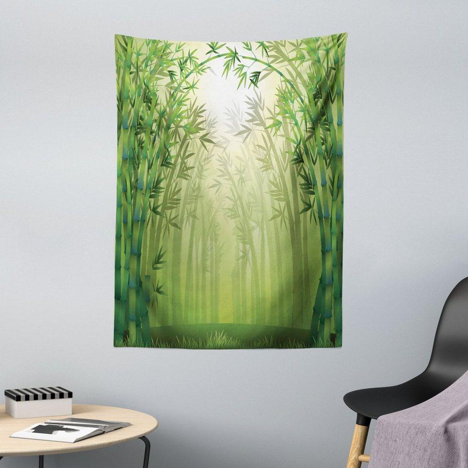Grün Baumwolle Teppich Sun Beams Tropic Wald