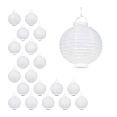 relaxdays LED Lampion »20 x LED Lampions weiß«