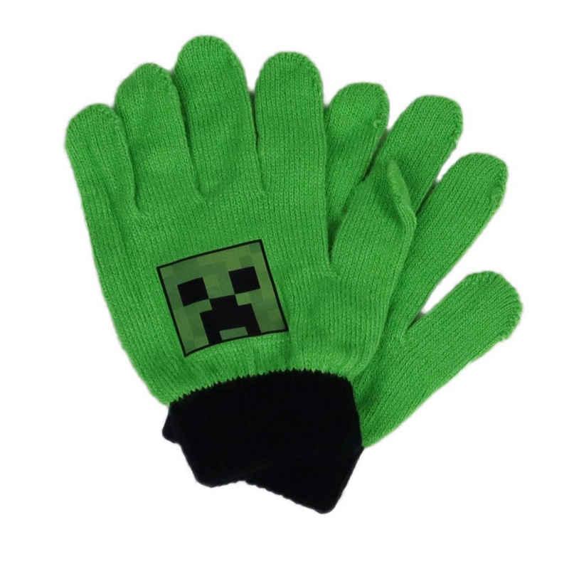 Minecraft Multisporthandschuhe »Kinder Finger Handschuhe« Einheitsgröße bis ca 10 Jahre, in Grün oder Schwarz, Motiv vom Creeper
