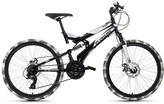 KS Cycling Mountainbike »Crusher«, 21 Gang Shimano Tourney Schaltwerk, Kettenschaltung