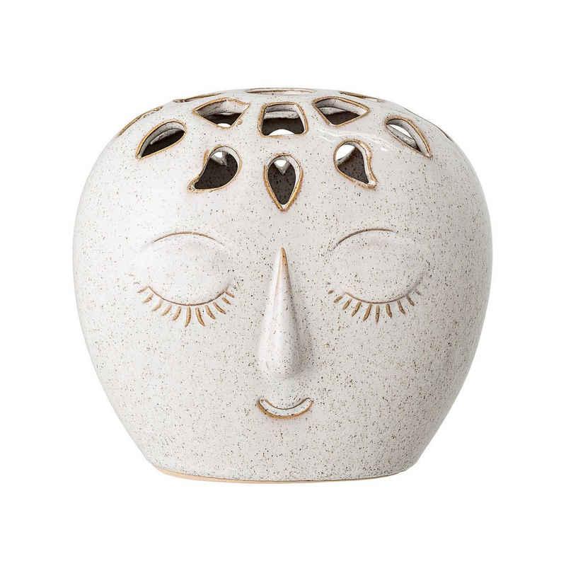 Bloomingville Dekovase »Bloomingville Vase Creme Weiß Oval mit Gesicht 14,5 cm«