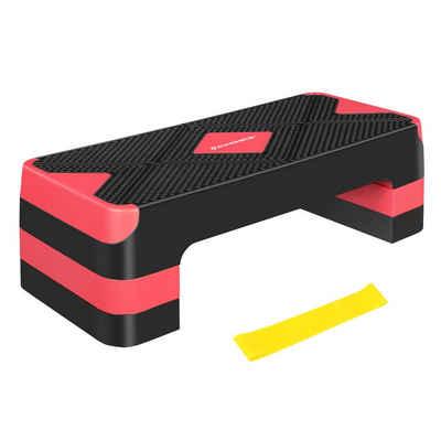 SONGMICS Stepper »STE684G01«, Steppbrett Stepbench mit Widerstandsband höhenverstellbare Aerobic Fitness