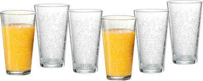 Ritzenhoff & Breker Longdrinkglas »Happy, Raindrops«, Glas, 400 ml, 6-teilig