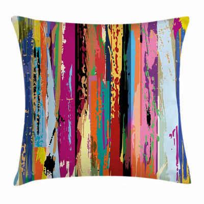 Abakuhaus Kissenbezug »Waschbar mit Reißverschluss Kissenhülle mit Farbfesten Klaren Farben Beidseitiger Druck«, Abstrakt Vibrierende Regenbogen-Entwurf