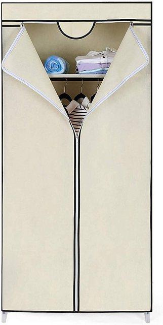 Garderoben Sets - SONGMICS Garderobe »RYG83M«, Garderobe Stoffschrank Faltschrank Kleiderschrank Campingschrank 160 x 75 x 45cm Beige  - Onlineshop OTTO