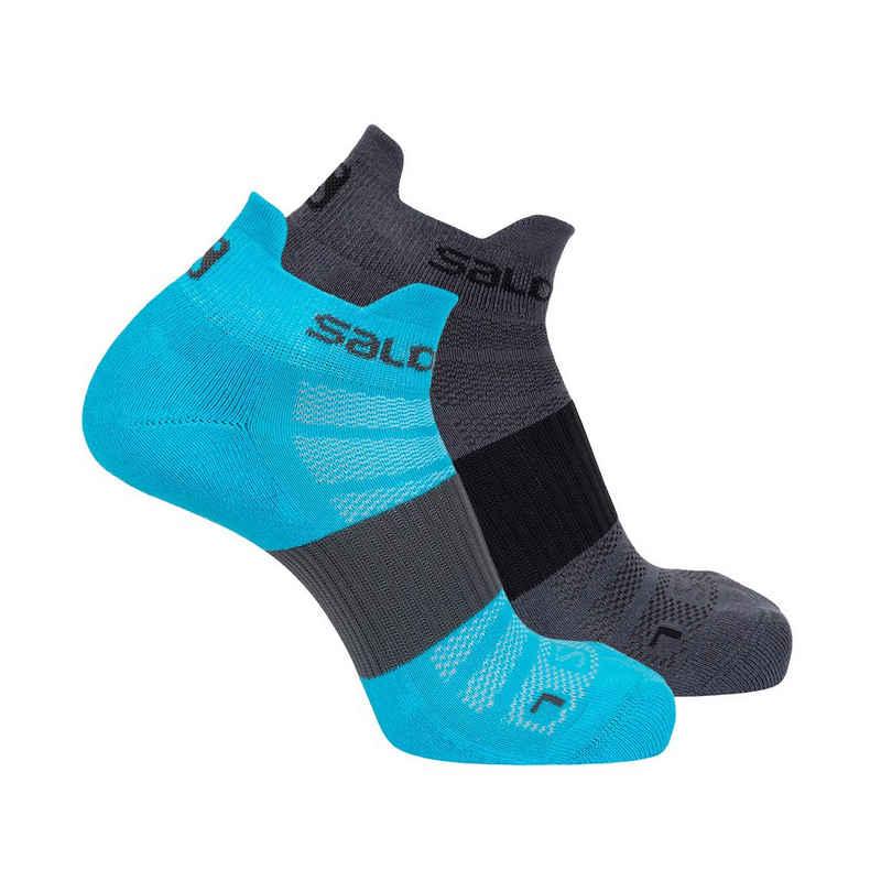 Salomon Sportsocken »2 PAAR Lauf-Socken Unisex - Ankle Sneaker Socks«
