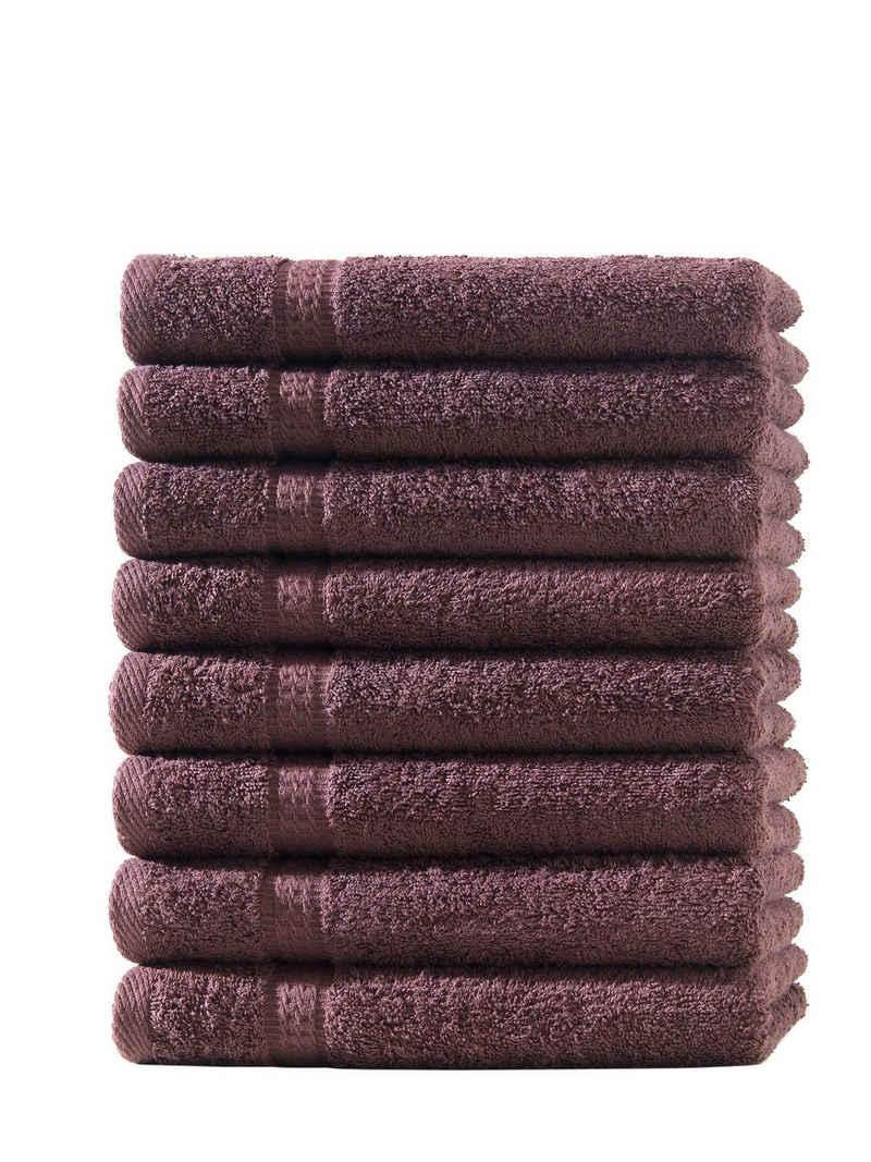 Hometex Premium Textiles Handtuch »in Premium Qualität 500 g/m², Feinster Frottier-Stoff - 100% Baumwolle, Kuschelig weich und sehr saugfähig, Extra schwere, flauschige Hotel-Qualität, Ideal für Zuhause, Sauna, Therme, Sport und Urlaub«