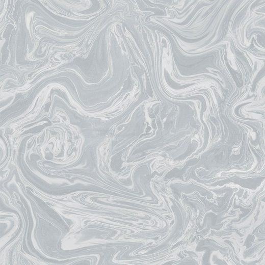 SUPERFRESCO EASY Vliestapete »Marmor«, Grau / Silber, 52cm x 10m