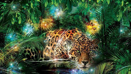 Consalnet Fototapete »Jaguar im Dschungel«, glatt, Motiv