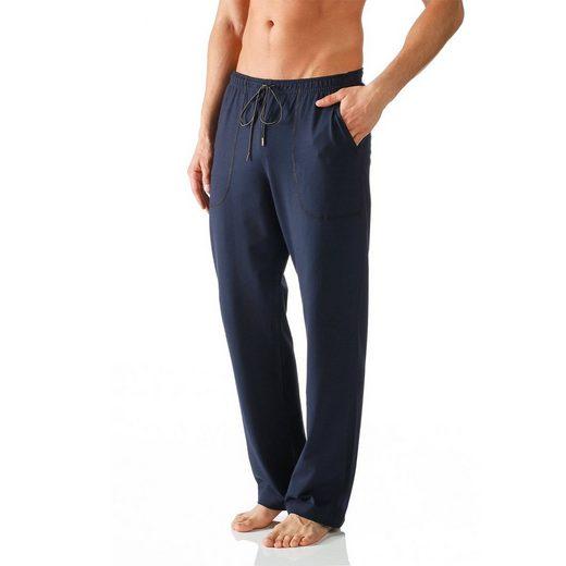 Mey Schlafhose »Club Coll Loungewear Hose lang - mit Taschen« Komfortbund mit Kordelzug, Langes Bein, Legere Passform
