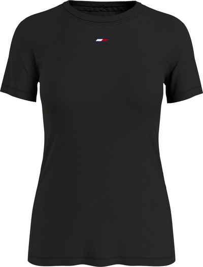 Tommy Hilfiger Sport T-Shirt »REGULAR FABRIC MIX C-NK TEE LS« mit Tommy Hilfiger Sport Logo-Flag