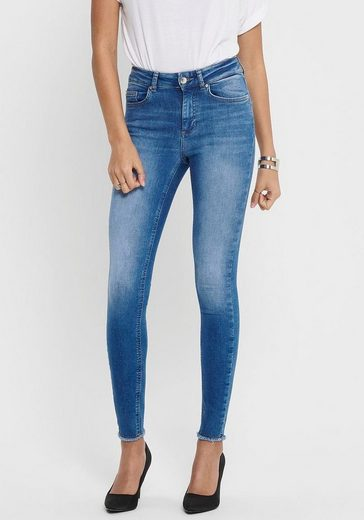Only Ankle-Jeans »ONLBLUSH LIFE« mit offenen Säumen