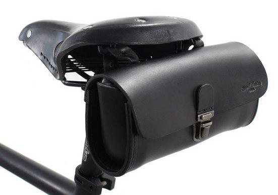 Gusti Leder Satteltasche »Raymond P.«, Fahrradtasche Vintage für Brooks Sättel diebstahlsicher Fahrrad