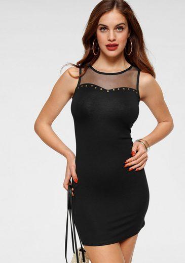 Melrose Jerseykleid mit Netzeinsatz