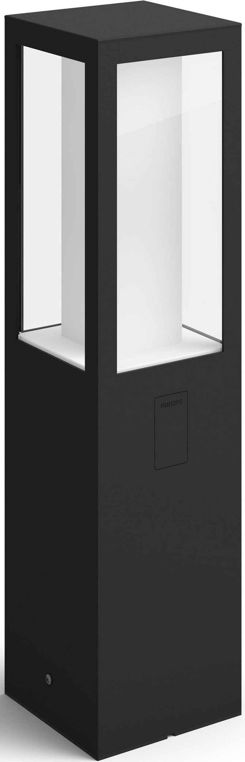 Philips Hue LED Außen-Tischleuchte »Impress«, Sockelleuchte inkl. LEDs fest integriert, Netzteil mit Kabel und Treiber, Erdspieß, Verlängerungskabel