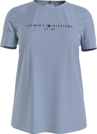 TOMMY HILFIGER Rundhalsshirt »TH ESS HILFIGER C-NK REG TEE SS« mit Tommy Hilfiger LInear Logo-Schriftzug