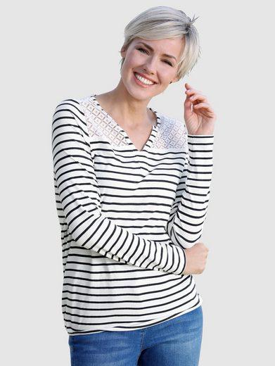 Dress In Shirt mit Spitzeneinsatz